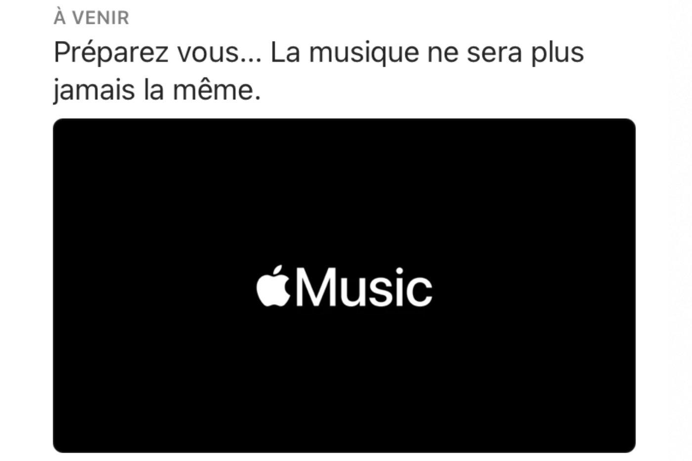 Apple Music HiFi teasing