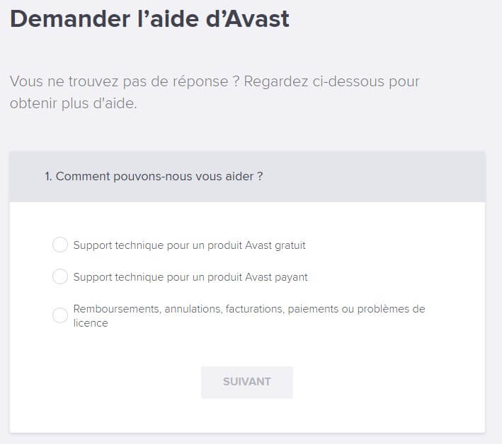 Contact support client Avast SecureLine