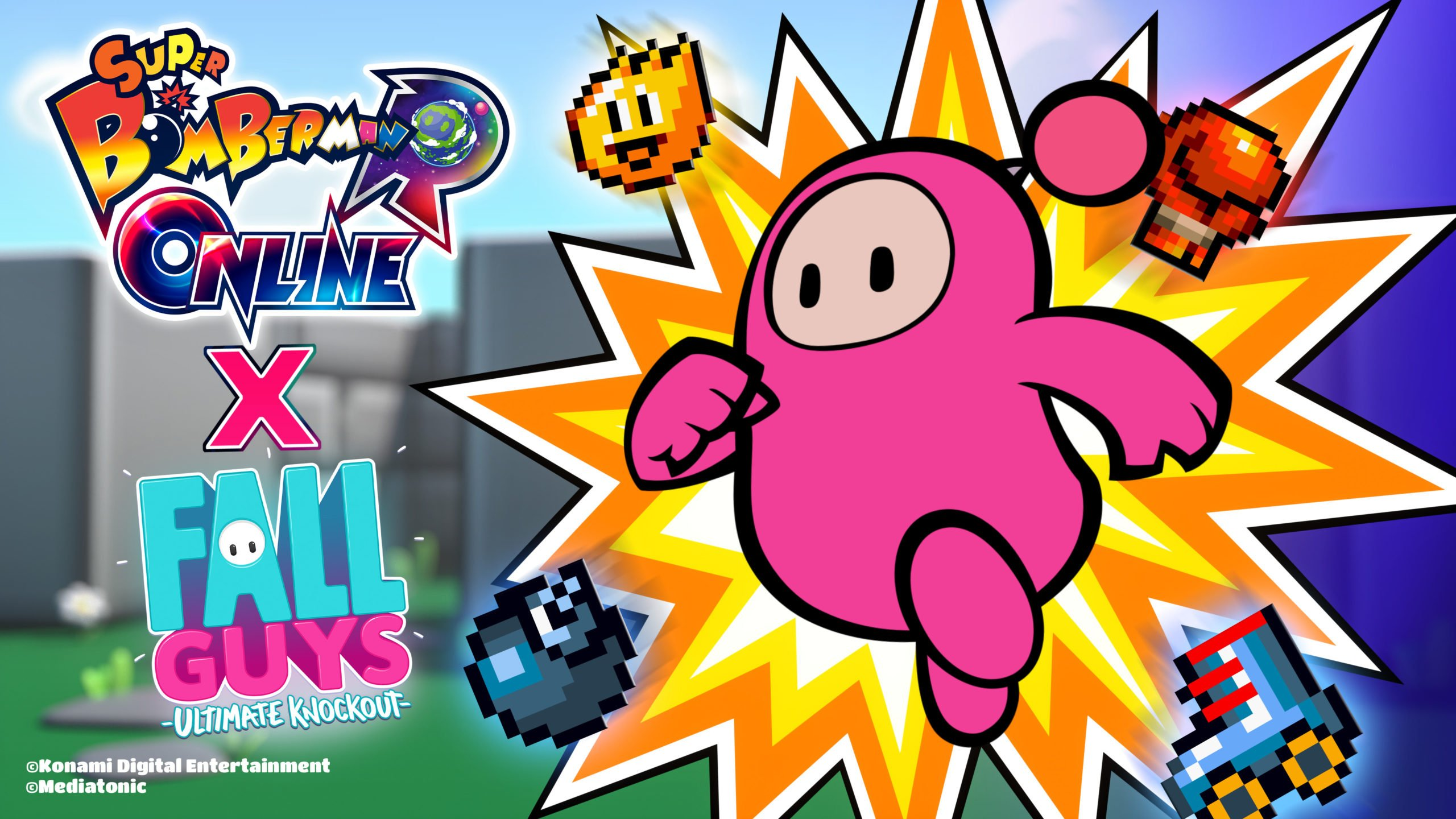 Fall-Guys-Bomberman-Crossover