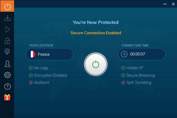 Interface Ivacy VPN