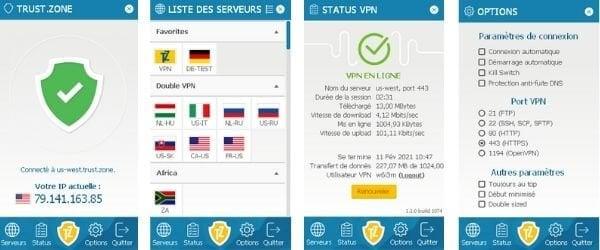 Interface Trust Zone VPN