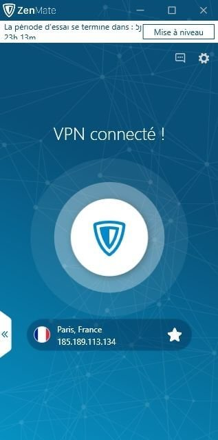 Interface ZenMate VPN