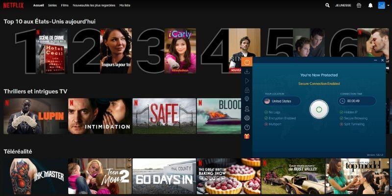 Netflix US avec Ivacy VPN