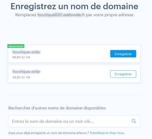 Nom de domaine avec Webnode