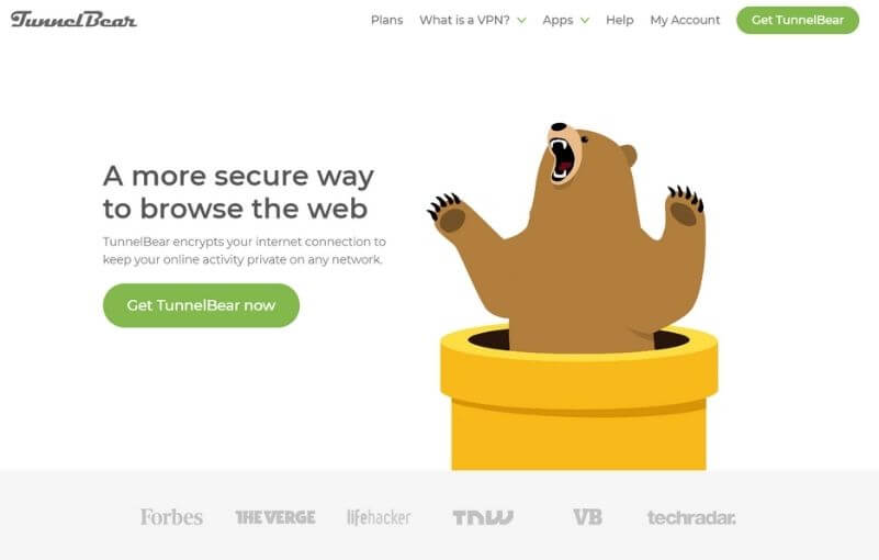 Page officielle TunnelBear