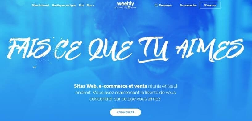 Page officielle Weebly