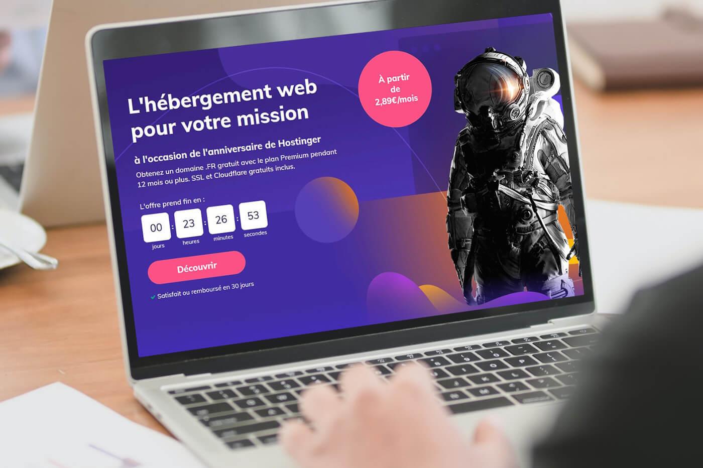 Promotion Hébergement web Hostinger