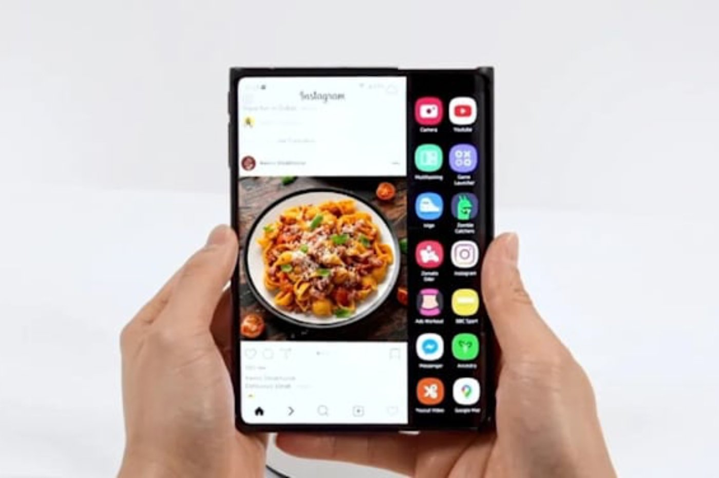 Samsung roll-up screen
