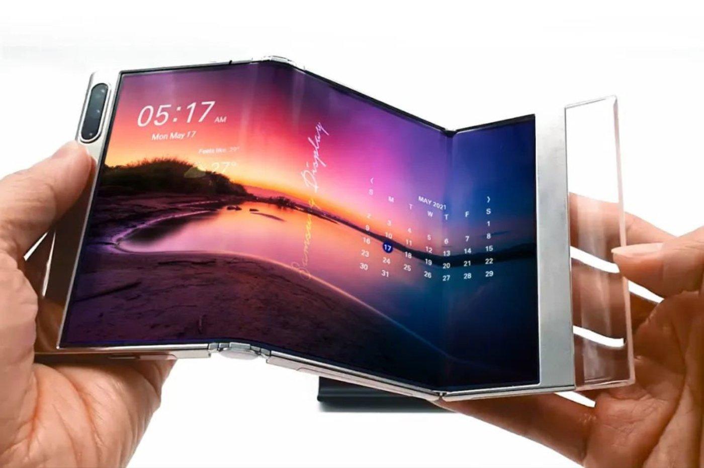Samsung écran pliant en trois