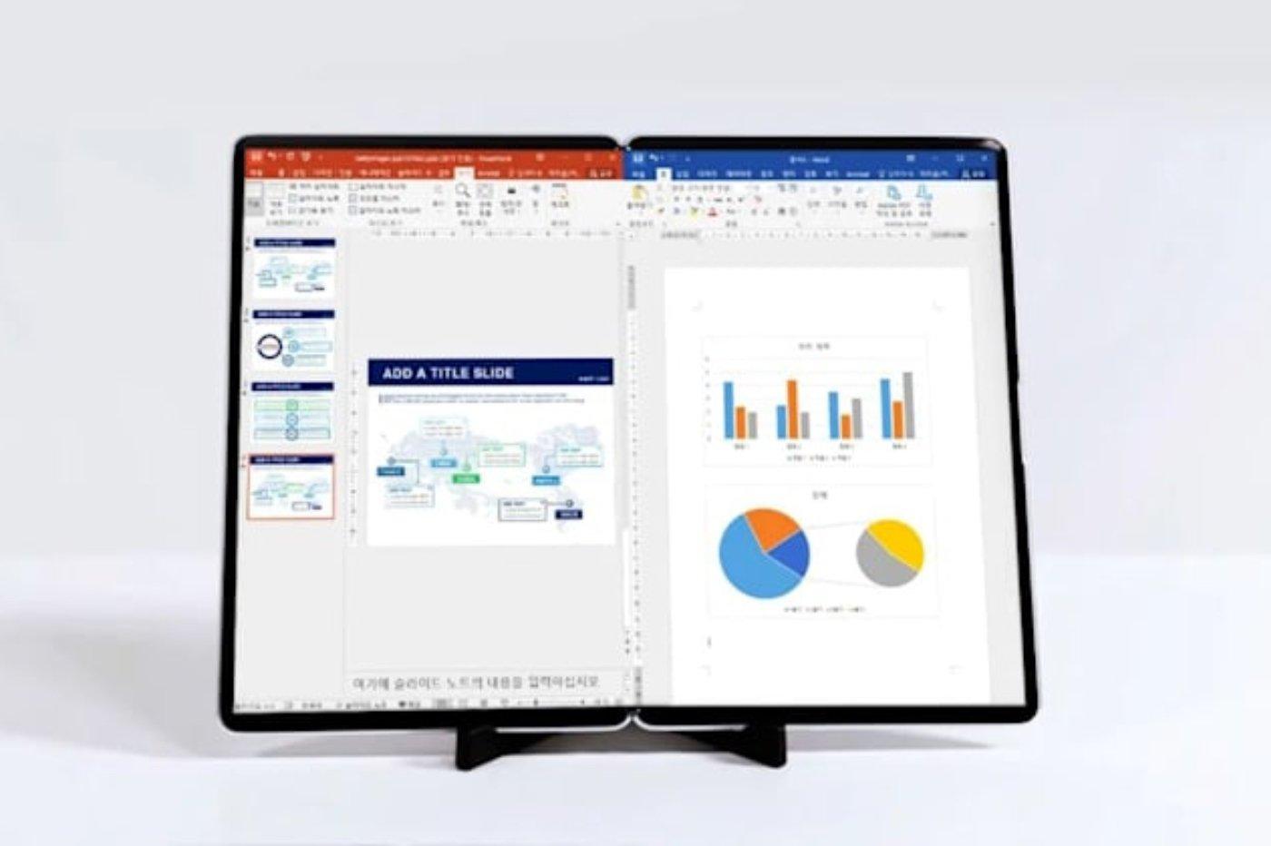 Samsung folding screen tablet