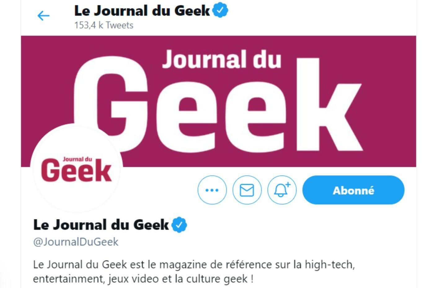 Twitter certifié journal du geek
