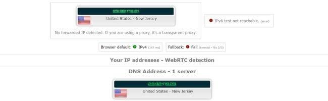 Test d'adresse IP avec Ivacy VPN