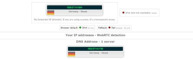 Test d'adresse IP Windscribe