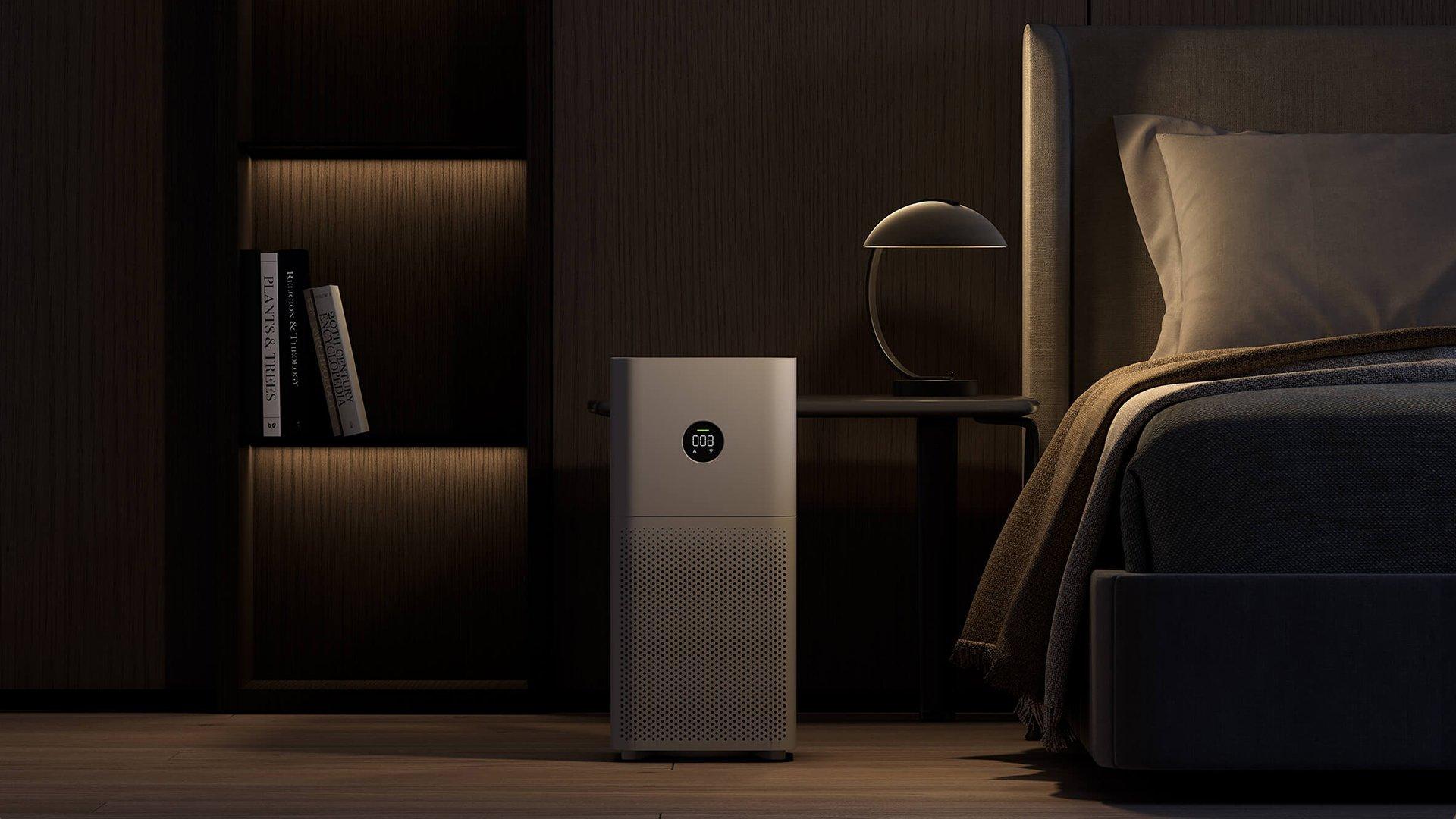 Le Xiaomi Mi Air Purifier 3C fait très peu de bruit afin de pouvoir dormir et respirer un air sain même la nuit.