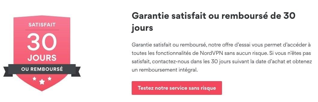 Garantie-NordVPN