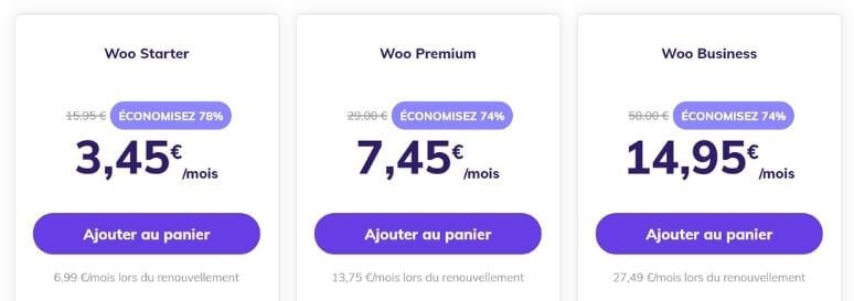 Hébergements pour WooCommerce avec Hostinger