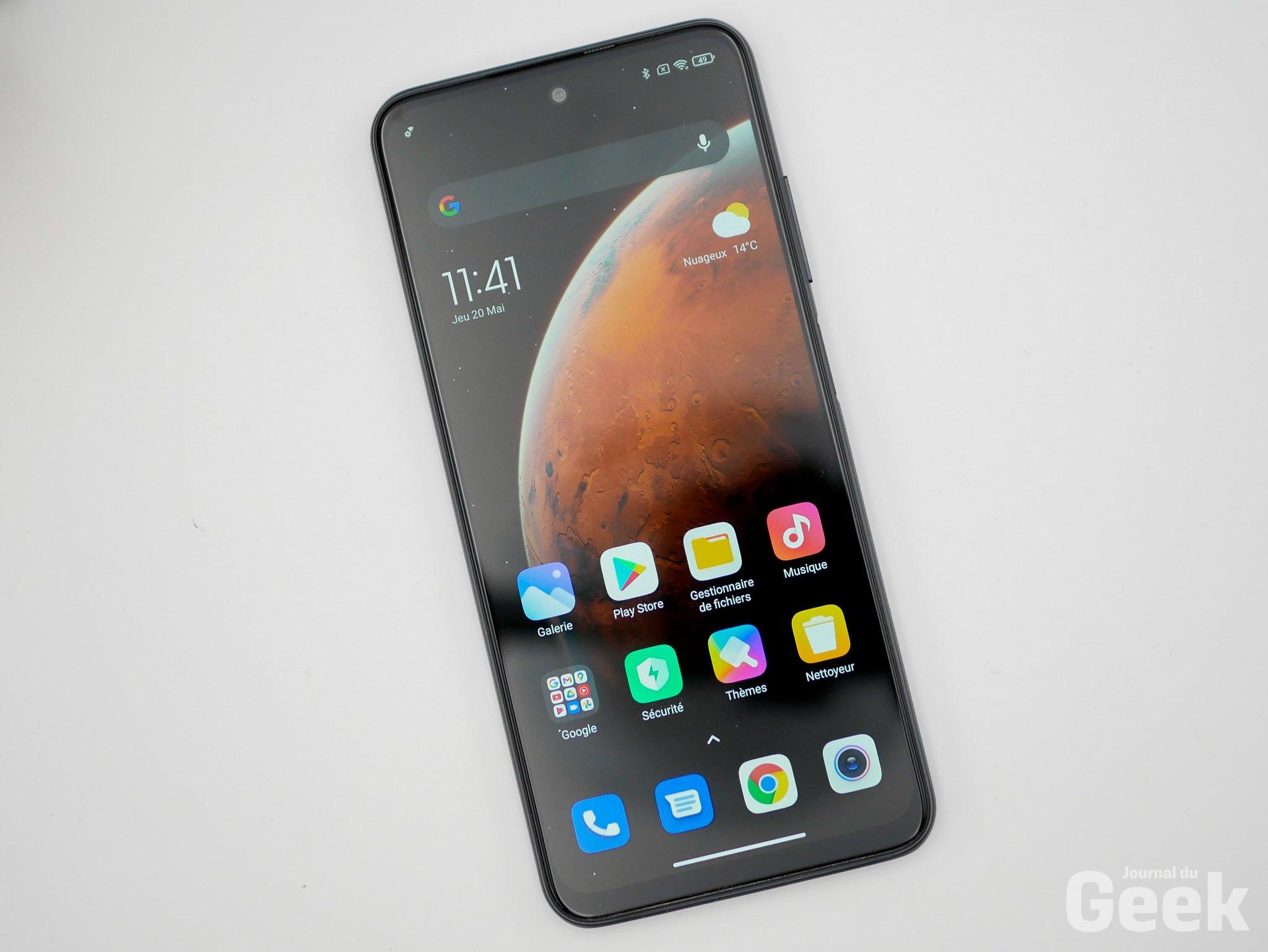 Redmi Note 10 5G desde el frente