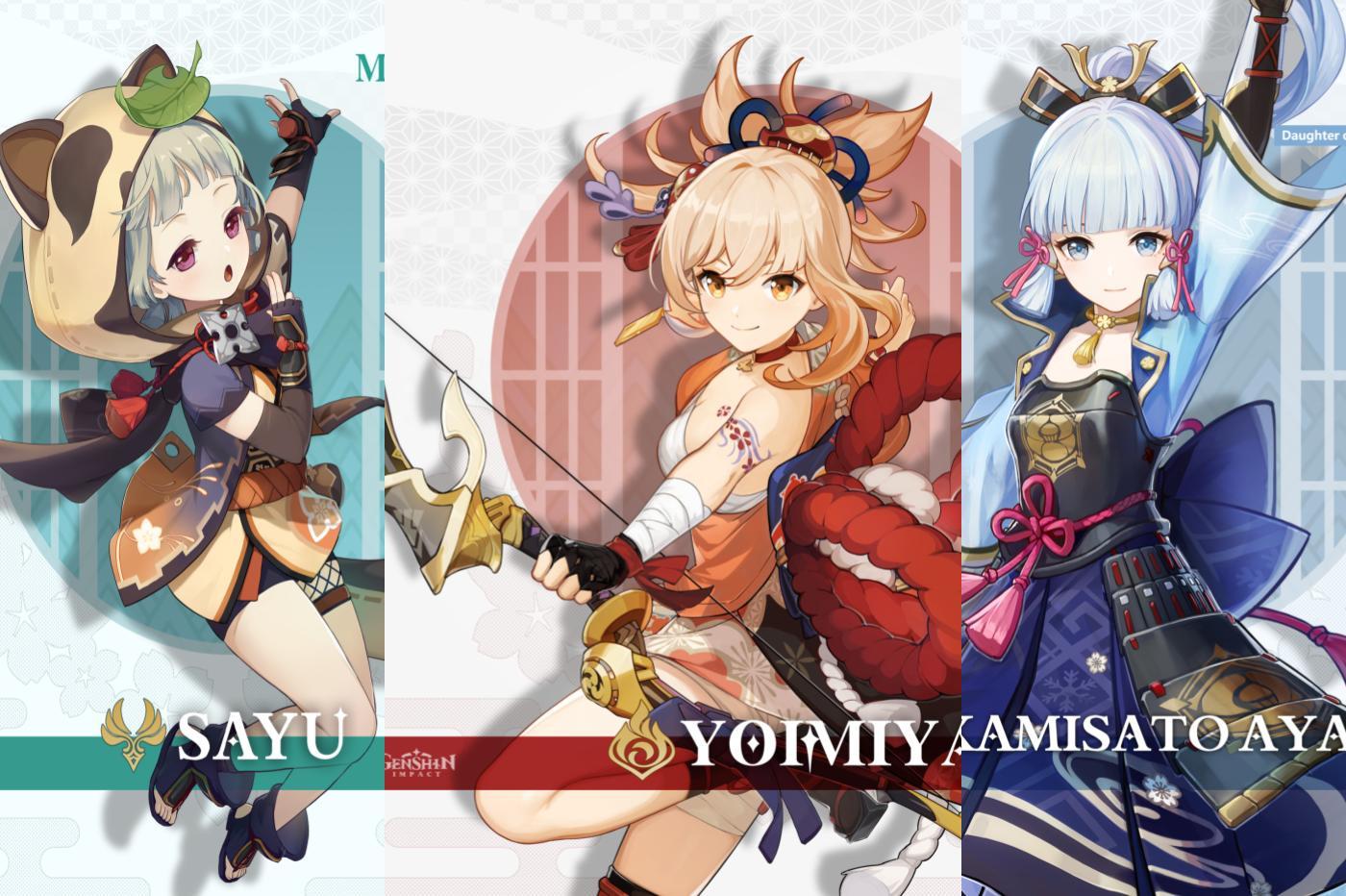 Nouveaux personnages de Genshin Impact