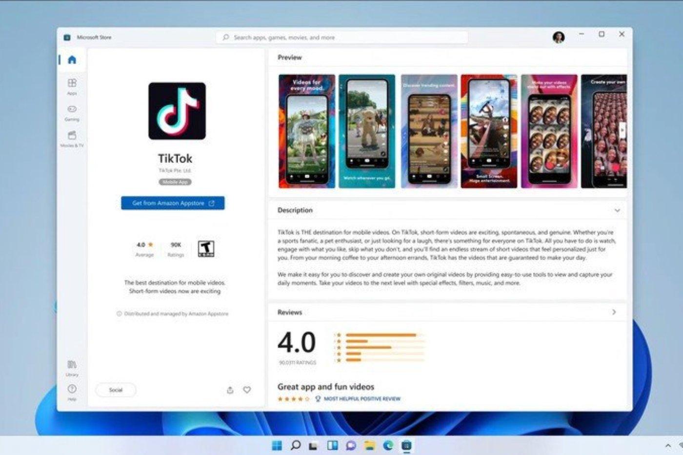 TikTok Microsoft Store
