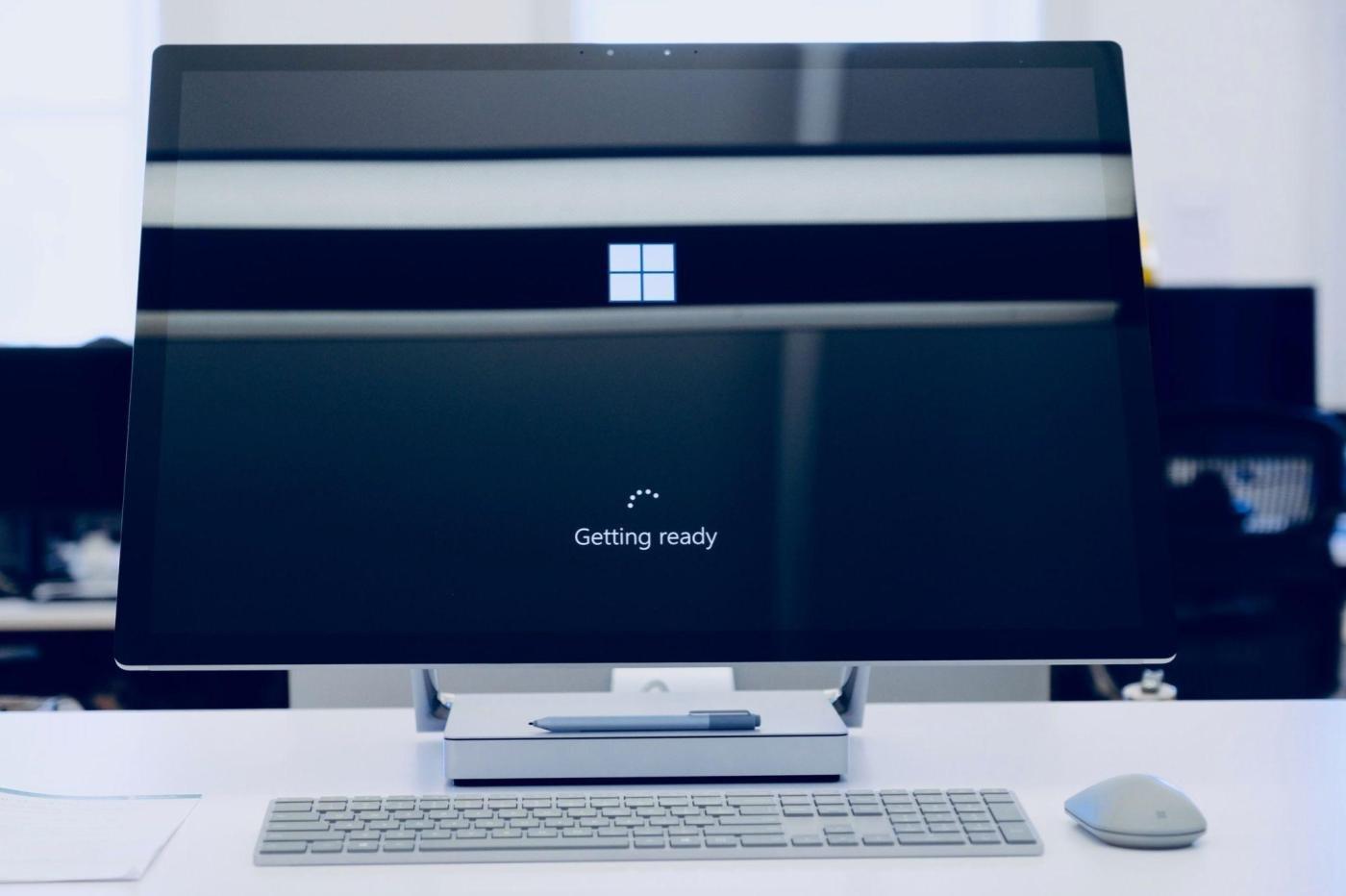L'installation de Windows 10 en cours.