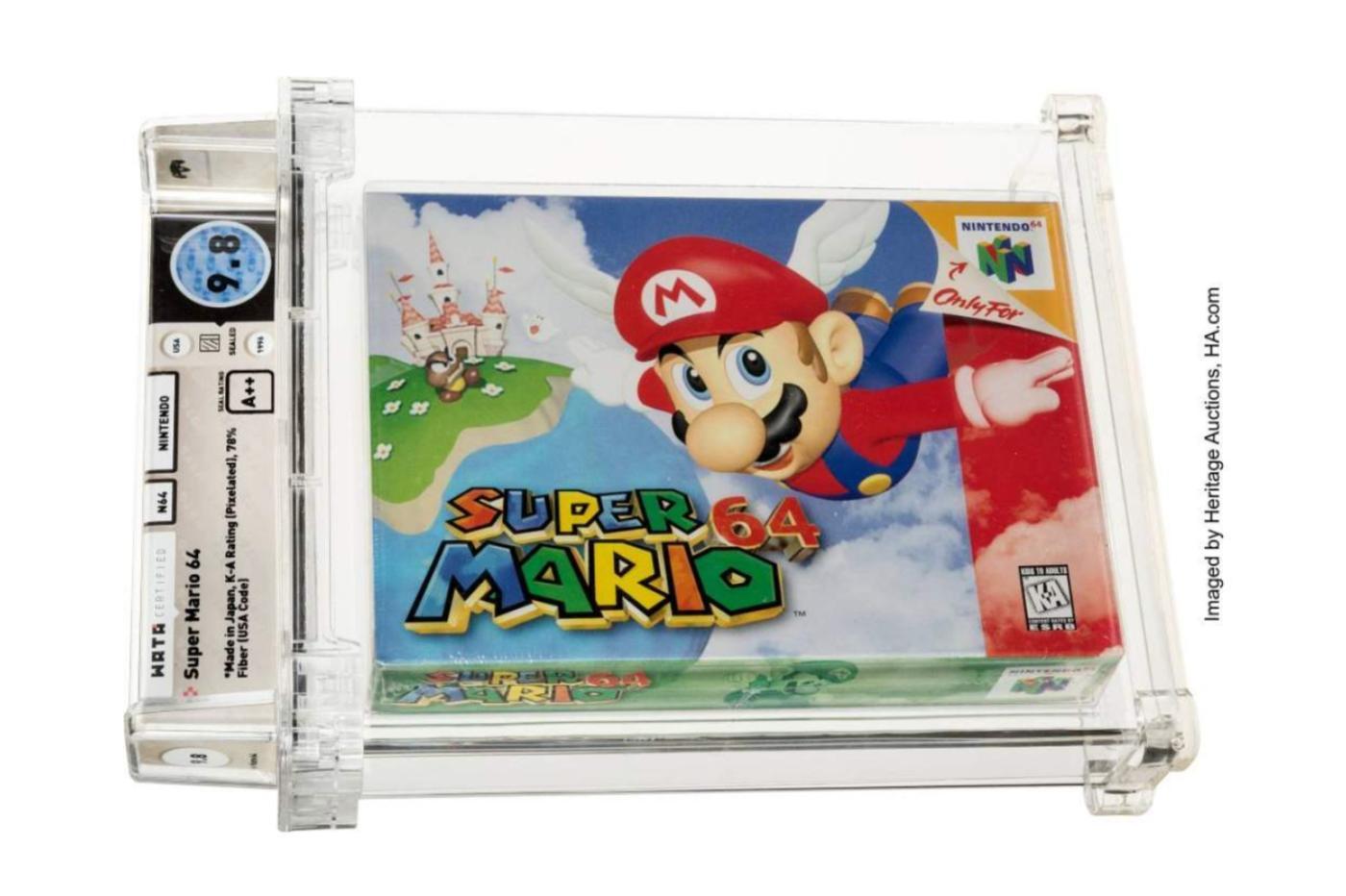 Super Mario 64 enchères Nintendo