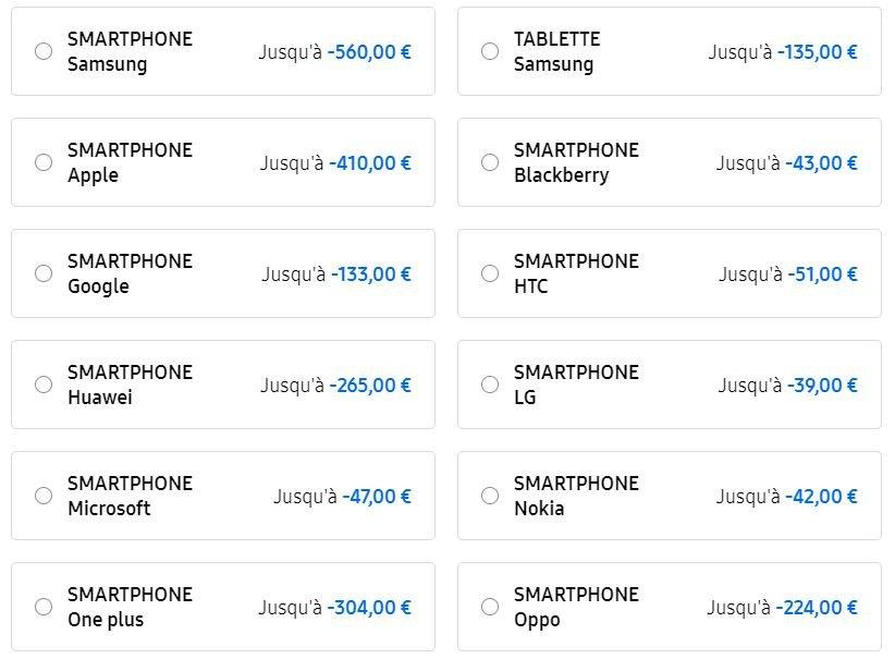 Samsung reprise smartphone
