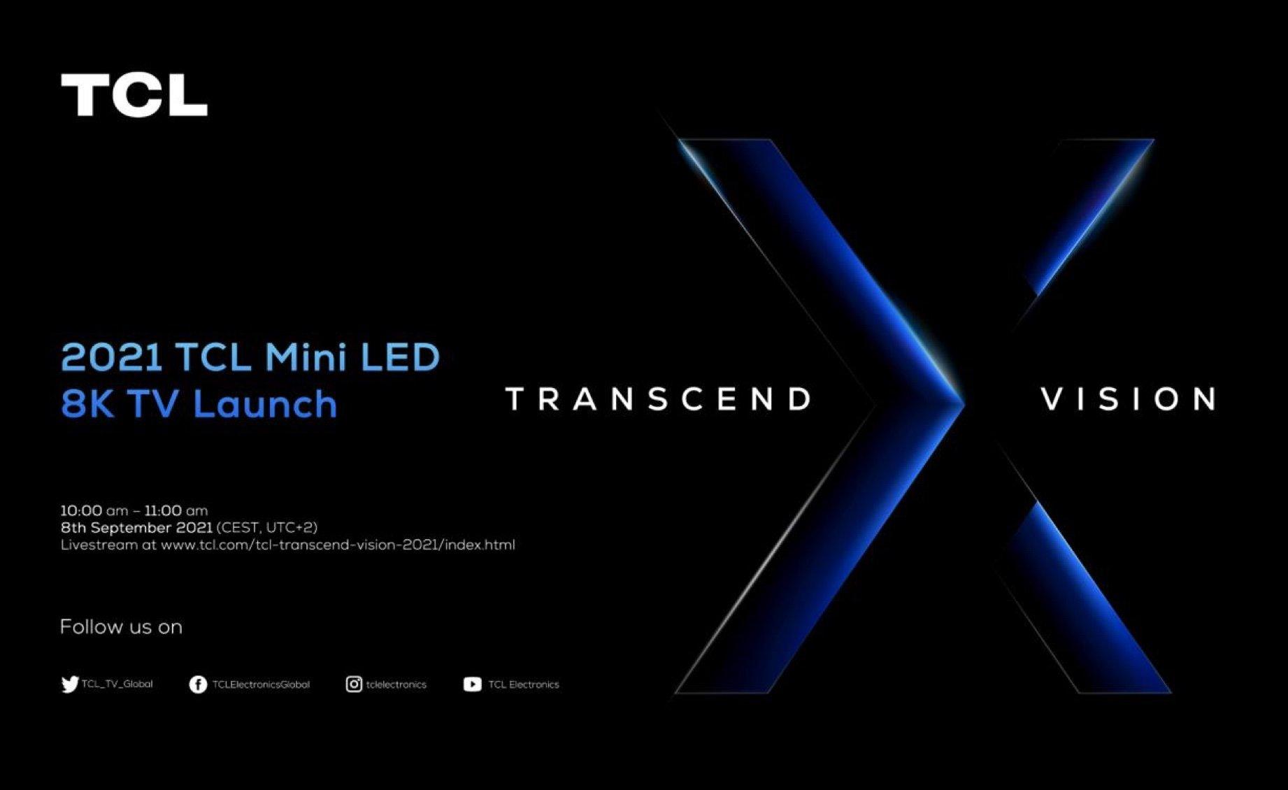 TCL va lancer un téléviseur 8K avec rétroéclairage Mini LED